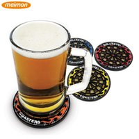 beer glass kit - 4pcs pack Cool Plastic Dart Board Cup Coaster Kits Anti skid Beer Beverage Glass Cup Mats Table Drink Coasters