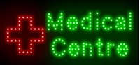 advertising medical - Ultra Bright LED Neon Light Animated Green Logo sign Medical Centre lights size cm indoor advertising led display