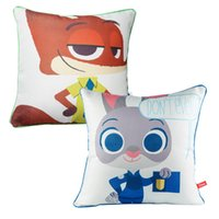 Wholesale Prettybaby Zootopia animal printing pillows Judy Nick model polyester bolster cushion styles bedding accessories Pt0308