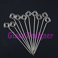 3.8Inch Ti Grade2  Smoking oil Dabber Smoking wax Dabber Smoking Ti Dabber Oil Rig Dabber New PaperClip Design For Water Pipe Hand Pipe Oil Tobacco 10pcs lot