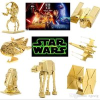 Wholesale 2016 New Star Wars Golden D Models Styles DIY Metallic Nano Puzzle no glue required For adult Chirstmas gift Free DHL TNT