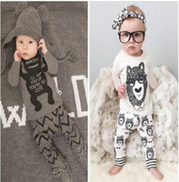 Wholesale Cartoon Kids Clothes Cotton Baby Clothing Sets Little Monsters Long Sleeve Baby Boys Clothes Children Clothing