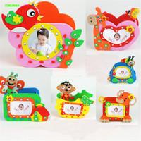 4pcs lot eva cartoon animals penholder photo frame high quality for kids handmade interesting toys