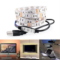 flat screen tv - Lighting for HDTV USB LED Backlight Strip RGB Bright V LED Neon Accent Lighting System for Flat Screen TV LCD Desktop Monitors