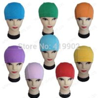 Wholesale 1 Stylish Flexible Light Durable Sporty Lycra Swim Swimming Cap Bathing Hat printing Hot Swimming Caps