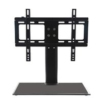bamboo tv stands - Hottest quot quot Cantilever Black Glass TV Stand with Bracket for Plasma LCD LED Stand Fast Delivery