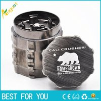 bear net - Hot New zinc alloy herb grinder parts mm teeth herbal filter net dry herb grinder smoke cracker Cali Crusher grinder polar bear DHL Free