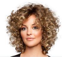 Wholesale Medium Wave Human Hair Wigs For Women Elegant MAYSU Multi Layered Trendy Brazilian Virgin Hair Blonde wig Capless European Style