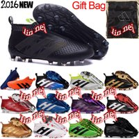 ace high printing - original men high ankle ace purecontrol fg football boots x purechaos soccer shoes messi pureagility soccer cleats primeknit SHOE