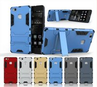 armor lite - For Huawei P9 Lite Case Rugged Combo Hybrid Armor Bracket Impact Holster Protective Cover Case For Huawei Ascend P9 Lite