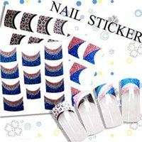 auto sticker design - New Arrival Beauty D Nail Art Sticker Designs French Glitter Manicure Auto Adhesive Decals