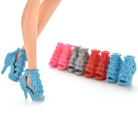 Wholesale 10 Pairs Mix Pairs High Heels Shoes quot Sandals For Barbie Doll Accessories Color Random