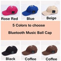 Wholesale 5 Colors Bluetooth Music Earphone Hat Baseball Caps Sunhat With Bluetooth Travel Sports Bluetooth Headset Stereo Headphone CCA4881