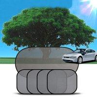 car curtains - 5 set Black Side Car Sun Shade Rear Window Sunshade Cover Curtain Mesh Visor Shield Screen with Suction Cups