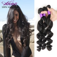 beauty products - 2016 New Arrival A Indian Virgin Hair Loose Wave cheap Beauty Indian MALAYSIAN Loose Wave Weave Anno Hair Products
