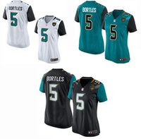 women's T-shirts - Women s Elite Jacksonville football jerseys Jaguars jerseys Blake Bortles Black Green white Cheap soccer rugby t shirts