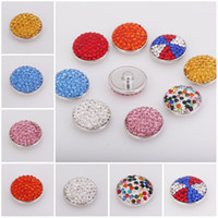 Wholesale 2016 mm Snap Charm Rhinestone Styles Interchangeable Snap Button Ginger Snaps Buttons DIY Jewelry E558L