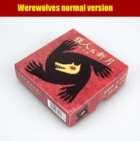 Wholesale Werewolves normal version with new moon expansion family game board game card game