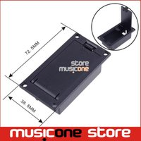 bass pickup cover - 9V Battery Box Case MM Cover For Guitar Bass Pickup platic guitar parts black color