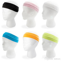 Wholesale 30 colors candy elastic hair band Cotton Yoga slimming headband hair band men women sport sweatband fillet Exercise Supplies