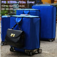 best designed luggage - Free shippin Latest design Nylon Oxford Protective cover for RIMOWA Luggage Best Fits rimowa Suitcase Protector all RIMOW series blue