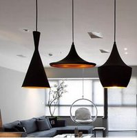 abc lights - ndoor Light Tom Dixon Copper Design Shade Pendant Lamp E27 Bulbs Beat Light Ceiling Lamp Black White Home Decoration ABC Size Set