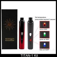 Wholesale Titan kit Dry herbal Vaporizer dry herb electronic cigarette Vaporizer pen mAh Battery Ecig VS titan Snoop dogg G PRO DGK