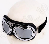 Wholesale 2 color LJJK317 Aviator Pilot Helmet Motorcycle Bicycle Scooter Goggles Eyewear Black Harley Motorcycle Bicycle Scooter Eyewear