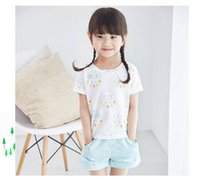 activities pant - new styles summer girls clothiing suits short sleeve cloud and rain t shirt Short pants activity suits BH2098