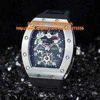 Cheap Free Shipping New Luxury High-quality Tourbillon G-Sensor Mens Automatic Power Reserve Watch Silver Bezel Skeleton Black Dial Rubber