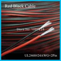 Wholesale UL2468 Meters Feet Tinned copper AWG pin Red Black cable PVC insulated wire Electric cable LED cable DIY Connect