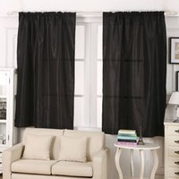 Wholesale Solid Satin Window Screen Curtains Wedding Curtain Drapes Scarf Valances Home Door Balcony Shop Decor Modern Style