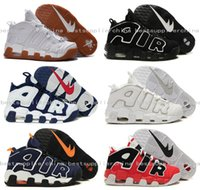 Wholesale 2016 New Air More Uptempo Basketball Shoes Scottie Pippen Olympics Shoes Men Training Sports Pippen Shoes Outdoor Top Quality Sneakers