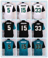 Wholesale Fast New Player Elite Men s Football Jerseys Blake Bortles Allen Robinson Chris Ivory White Blue Black Stitched Jersey