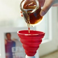 Wholesale Foldable Silicone Funnel Collapsible Heat Proof Oil Liquid Kitchen Tool