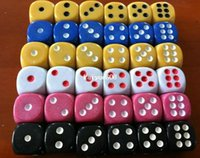gambling game - 2013 NEW MM NS Poker Chips dice for Gambling Game Dice u0026 Blue Green Yellow Pink Black Orange