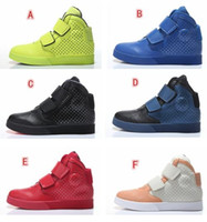 Cheap Very popular 2015 Newest High-top mens Flystepper 2k3 Platinum Lot Sport Shoes genuine leather mens fashion running shoes red white 40-45