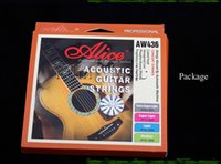 Wholesale AliceAW436 upscale Acoustic Guitar Strings Phosphor Bronze coating timbre brighter high quality for guitar