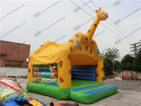 Wholesale Giraffe theme inflatable animal bouncer Cheap inflatables giraffe bouncy castle