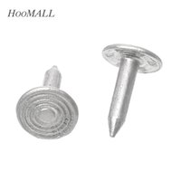 Wholesale Hoomall Silver Tone Aluminum Glide Nail Chair Feet Furniture Sofa Nails Decorative Round Spiral Pattern mmx8mm order lt no track