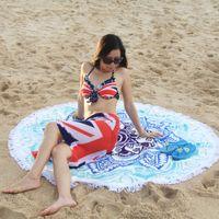 beach towel suppliers - gold supplier custom high end round beach towels with tassel