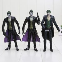 Wholesale 16cm The Dark Knight Batman The Joker with gun and knife PVC Action Figure Model Toy Dolls Christmas Gift