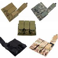 Wholesale Molle Tactical Triple M4 mm Mag Magazine Pouch Bag For Pistol Handgun