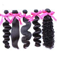 al por mayor teñido de la armadura del pelo humano-La onda brasileña Greatridge del cuerpo de la trama de la armadura del pelo 7A se puede teñir Extensiones peruanas malasias del pelo de Mink