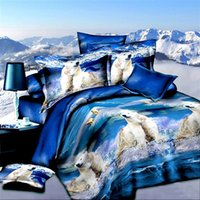 bear bedding set - Bed Sheet Special Offer set Pieces Home Duvet Cover New In Lifelike Polar Bear Printed Full Size d Reactive Pieces Bedding Sets