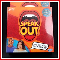 best white boards - Speak Out Game With Funny Mouthpiece Party Board Game KTV Party Game Cards Games for party Christmas Gift Best Selling Toy