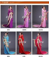Wholesale Ancient costume hanfu tang suit and women s fairy fairy chang e with the imperial concubine Dance costume studio stage