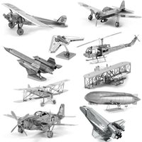 apache children - 3D Metal Puzzles for children Adults Model Toys Jigsaw Metal Bpeomg AH64 Apache B17 flying fortress F22 Raptor puzzles Chinook