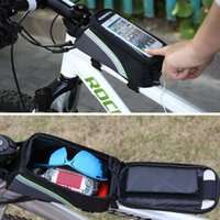 Wholesale Cycling Bike Front Frame Bag Tube Pannier Double Pouch for in Cellphone Bicycle Accessories