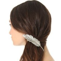 Wholesale Hair Accessories Products American Jewelry Exaggerated Fashion Female Hair Pins Feather Barrette Word Valentine Card Hairpin